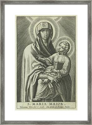 Mary With The Christ Child, Hieronymus Wierix Framed Print by Hieronymus Wierix
