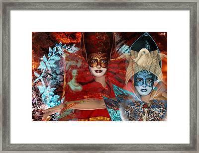 Mascarade Framed Print