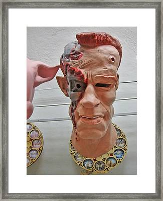 Mask. Next To Charles Bridge. Prague. Czech Republic. Framed Print by Andy Za