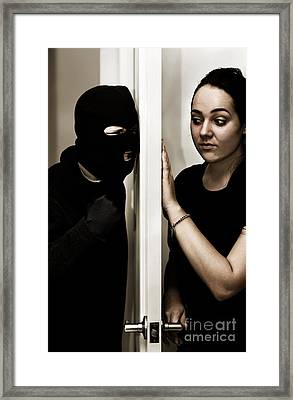 Masked Intruder Framed Print by Jorgo Photography - Wall Art Gallery