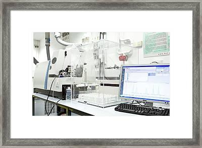 Mass Spectroscopy System Framed Print by Crown Copyright/health & Safety Laboratory Science Photo Library