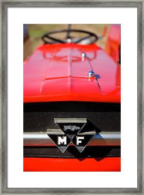 Massey Ferguson 135 Vintage Tractor Framed Print by Paul Lilley