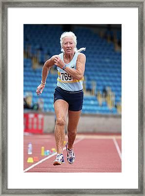 Masters Irish Athlete Dorothy Mclennan Framed Print