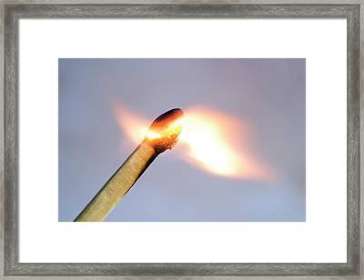 Match Igniting Framed Print