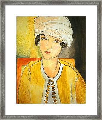 Matisse's Lorette With Turban And Yellow Jacket Framed Print