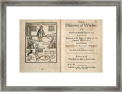 Matthew Hopkins Framed Print