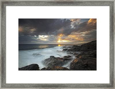 Maui Seascape Framed Print by James Roemmling