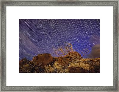Framed Print featuring the photograph Maui Star Trails by Hawaii  Fine Art Photography