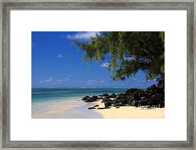 Mauritius Blue Sea Framed Print by IB Photography