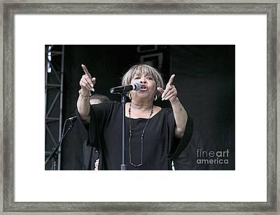 Singer Mavis Staples Framed Print by Concert Photos