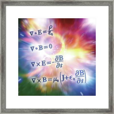 Maxwell's Equations Framed Print by Alfred Pasieka