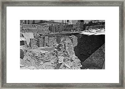 Mayan Excavation Site Framed Print by American Philosophical Society