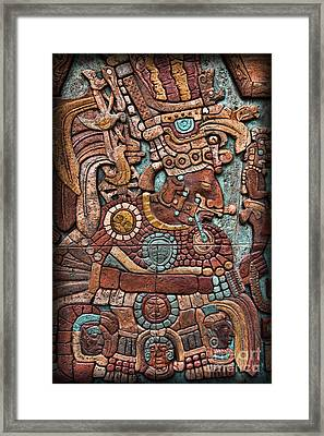 Mayan Hieroglyphs Framed Print by Lee Dos Santos