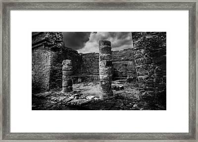 Mayan Ruin Framed Print by Julian Cook