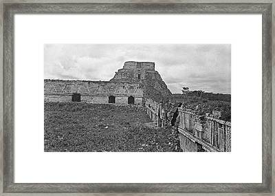 Mayan Temple Ruins Framed Print by American Philosophical Society
