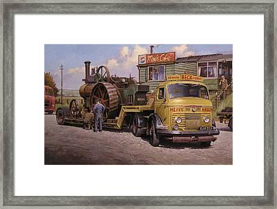 May's Transport Cafe. Framed Print