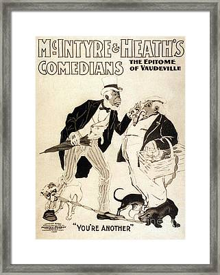 Mcintyre And Heath, American Comedy Duo Framed Print