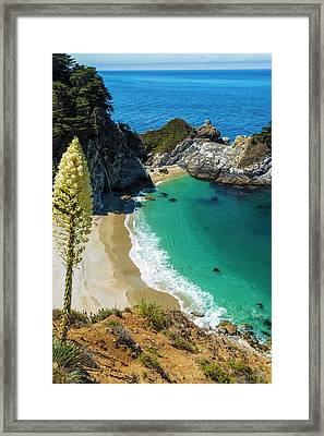 Mcway Cove, Julia Pfeiffer Burns State Framed Print