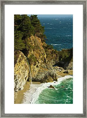 Mcway Falls, Julia Pfeiffer Burns State Framed Print by Michel Hersen