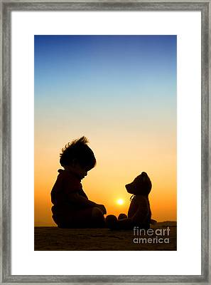 Me And My Bear Framed Print by Tim Gainey