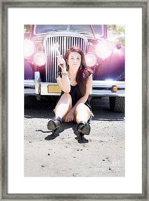 Mechanic Fixing Car Framed Print by Jorgo Photography - Wall Art Gallery