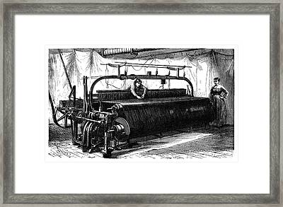 Mechanical Loom Framed Print by Science Photo Library