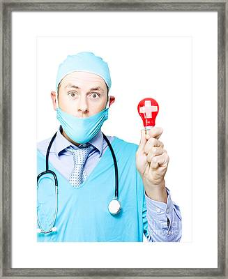 Medical Breakthrough Or Brainwave Framed Print