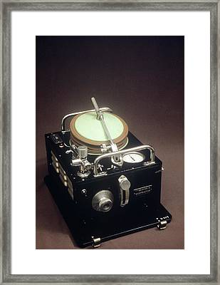 Medical Respirator Framed Print by Science Photo Library