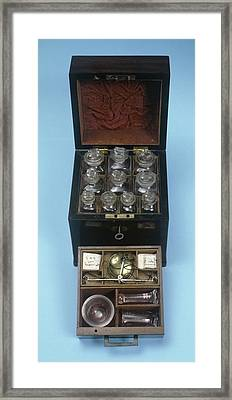 Medicine Chest Framed Print by Science Photo Library