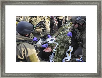 Medics Of The British Special Forces Framed Print by Andrew Chittock