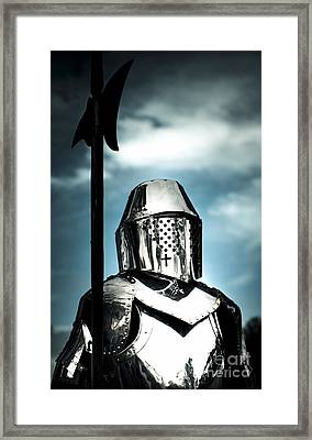 Medieval Knight Holding Weapon Framed Print by Jorgo Photography - Wall Art Gallery