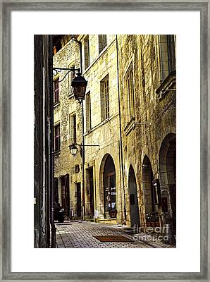 Medieval Street In France Framed Print