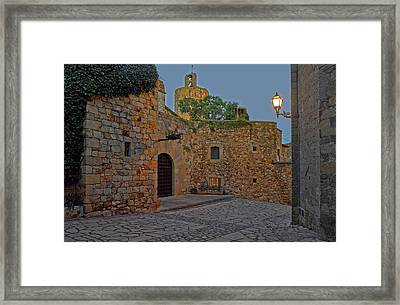 Medieval Town Of Pals In Costa Brava Framed Print