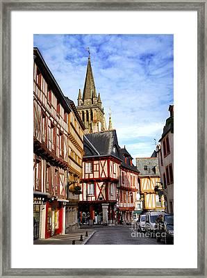 Medieval Vannes France Framed Print by Elena Elisseeva