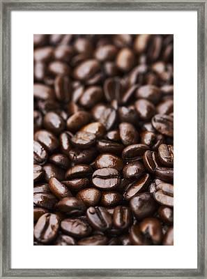Medium Dark Roast Kona Coffee Beans Framed Print by Philip Rosenberg