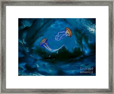 Framed Print featuring the mixed media Medusa's Cavern by Steed Edwards