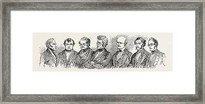 Meeting Of The British Association At Southampton Framed Print by English School