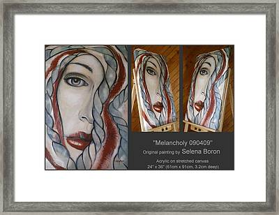 Framed Print featuring the painting Melancholy 090409 by Selena Boron