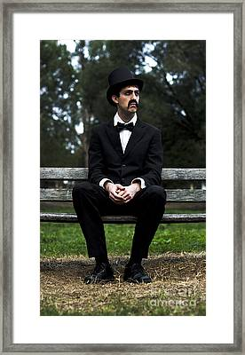Melancholy Man Framed Print by Jorgo Photography - Wall Art Gallery