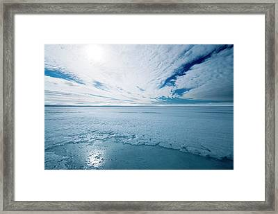 Melting Arctic Sea Ice Framed Print by Louise Murray/science Photo Library