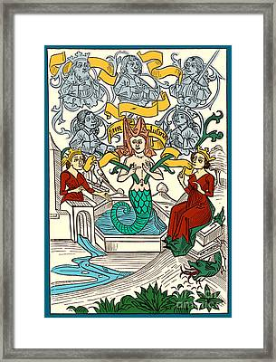 Melusine Legendary Creature Framed Print by Photo Researchers
