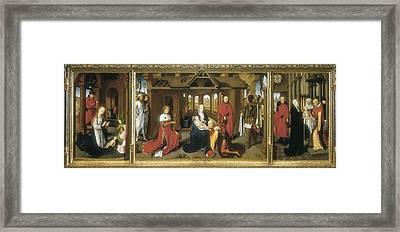 Memling, Hans 1433-1494. Triptych Framed Print