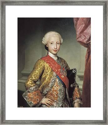 Mengs, Anton Raphael 1728-1779. Infante Framed Print