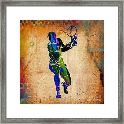 Mens Tennis Framed Print