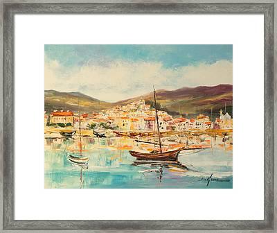 Mentone Harbour Framed Print