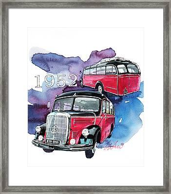 Mercedes Benz D-3500 Bus Framed Print by Yoshiharu Miyakawa