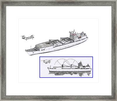 Merchant Marine Conceptual Drawing Framed Print