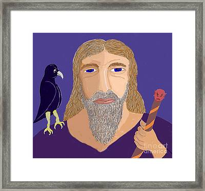 Merlin The Magician  Framed Print by Fred Jinkins