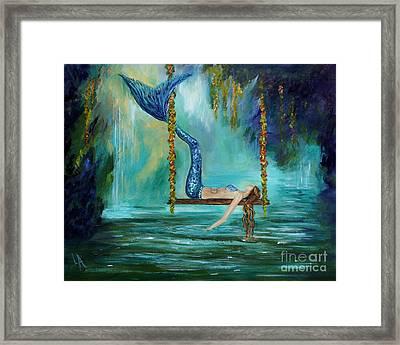 Mermaids Lazy Lagoon Framed Print