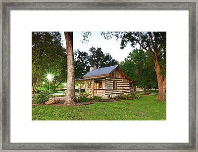 Merriman Cabin Historic Structure Framed Print by Larry Ditto